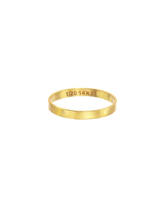 Thin Flat Band Ring