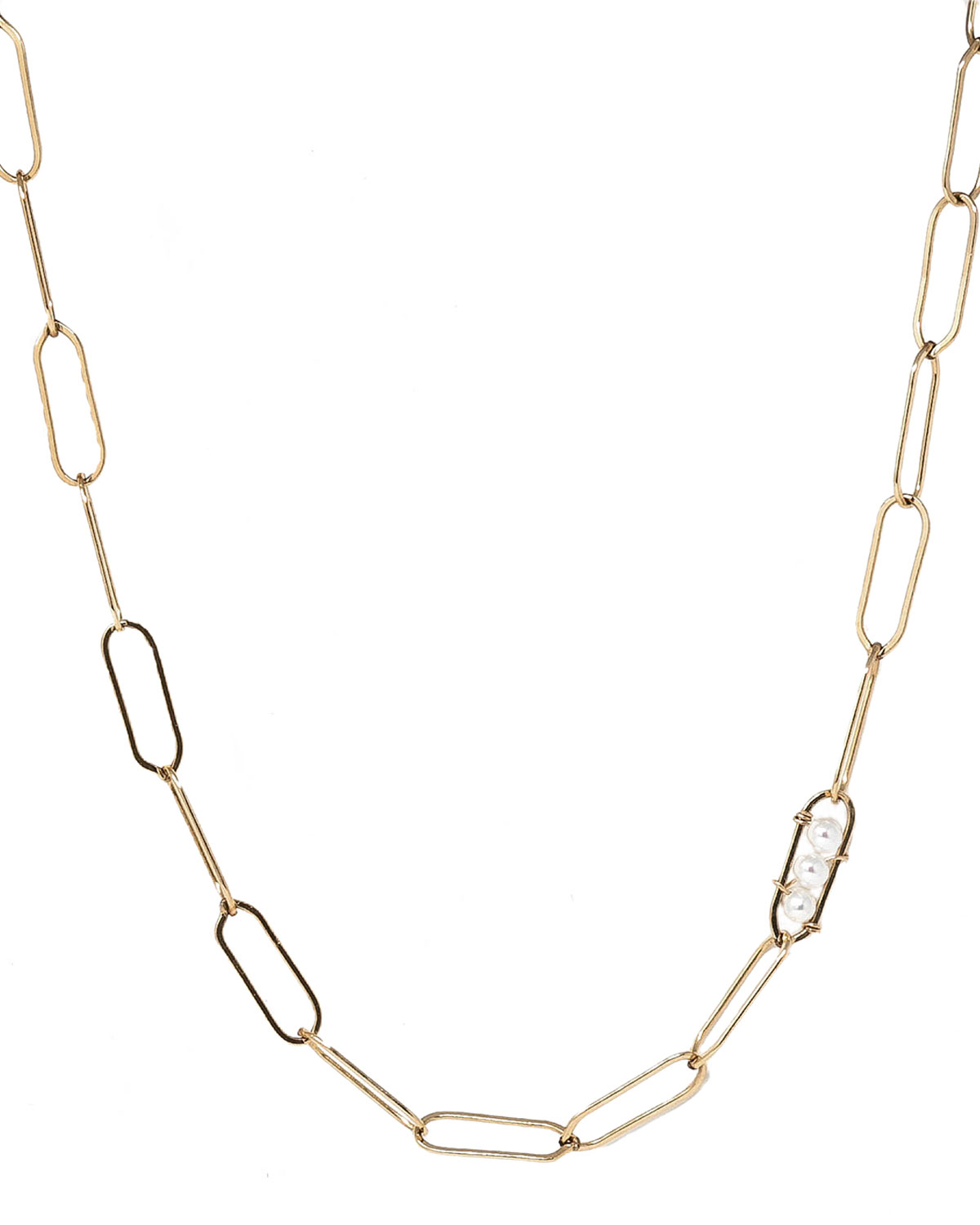 Vanessa Chain Necklace with Pearl Detail
