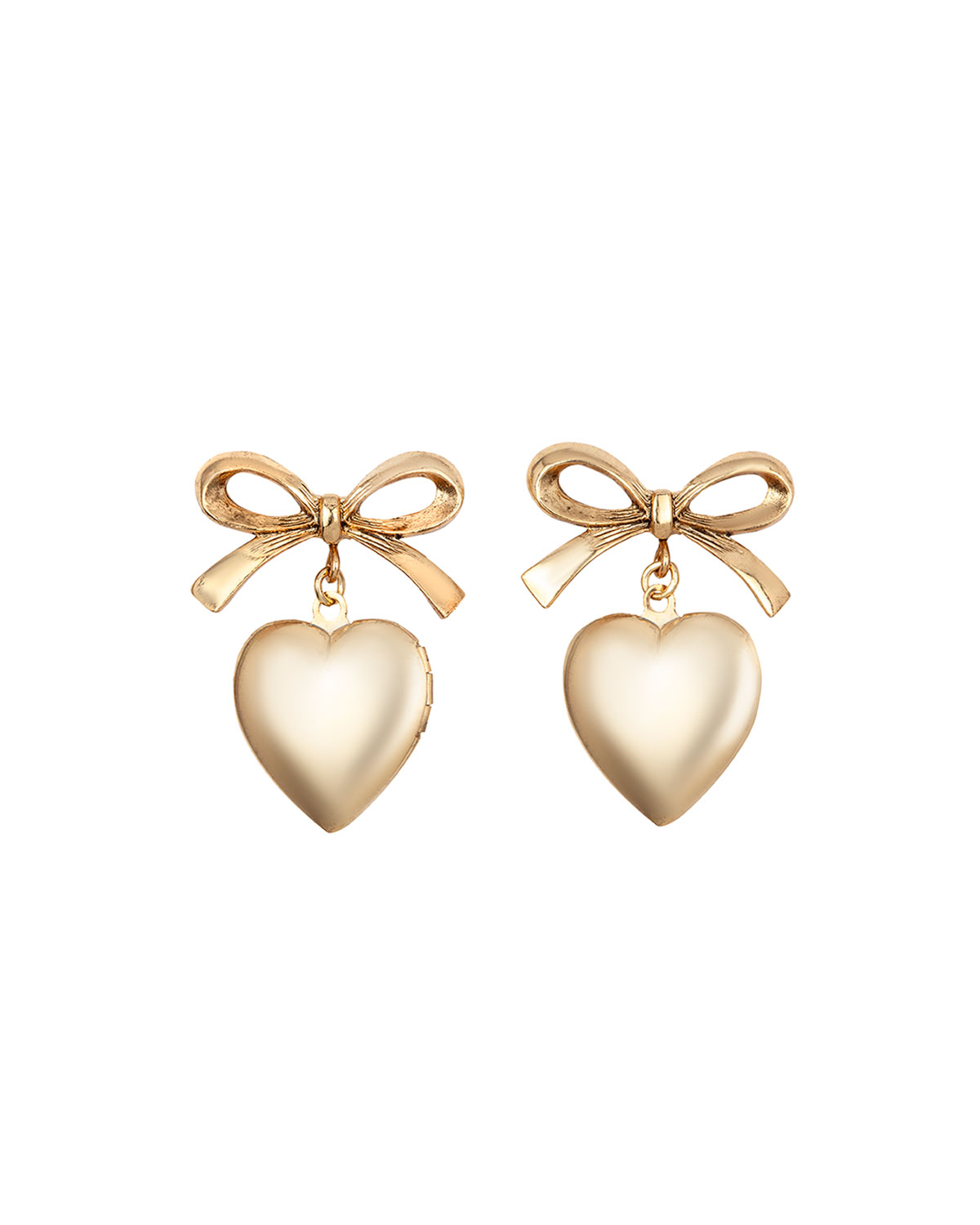 Chriselle Bow and Heart Earrings