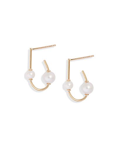 Dual Duo Drop Oval Earrings Gold /& Copper