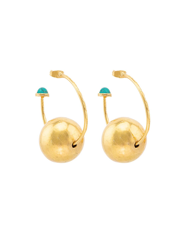 Sylvia Toledano GOLDEN BUBBLE TURQUOISE EARRINGS
