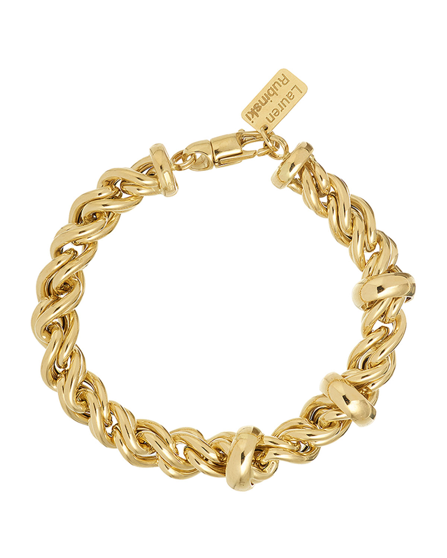 14k Medium Rope Chain and Ring Bracelet