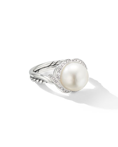Continuance Pearl & Diamond Ring, Size 9
