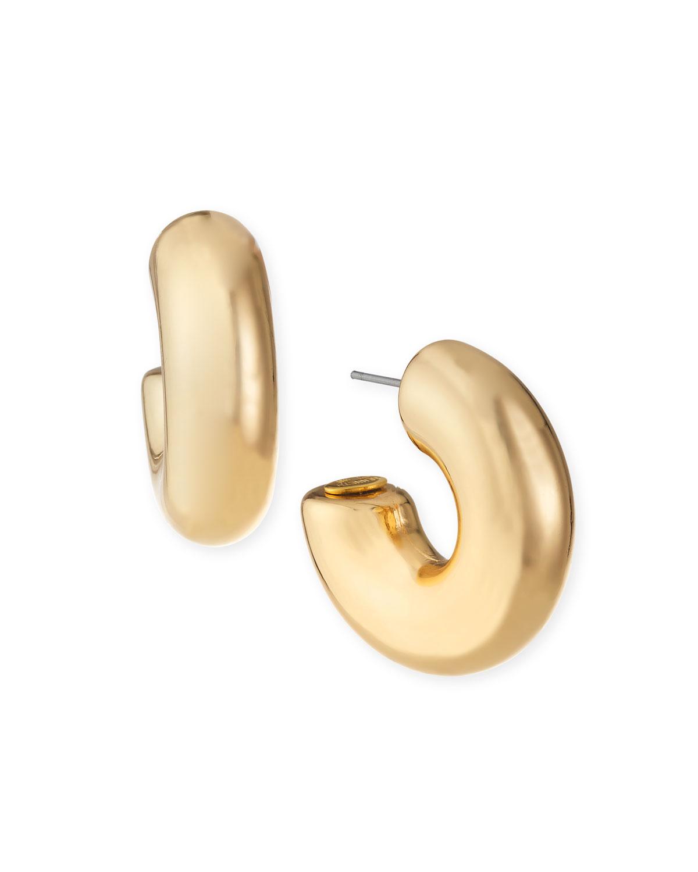 Polished Chubby Hoop Earrings