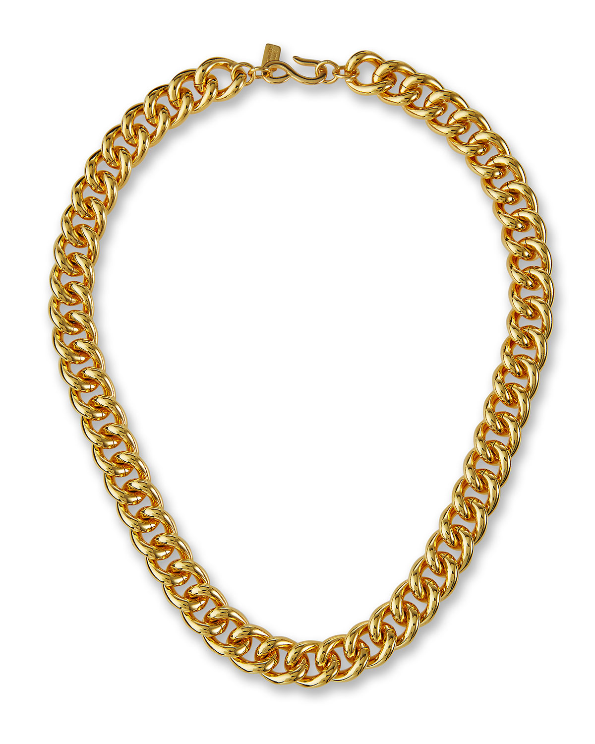 Polished Chain Necklace with Hook Clasp