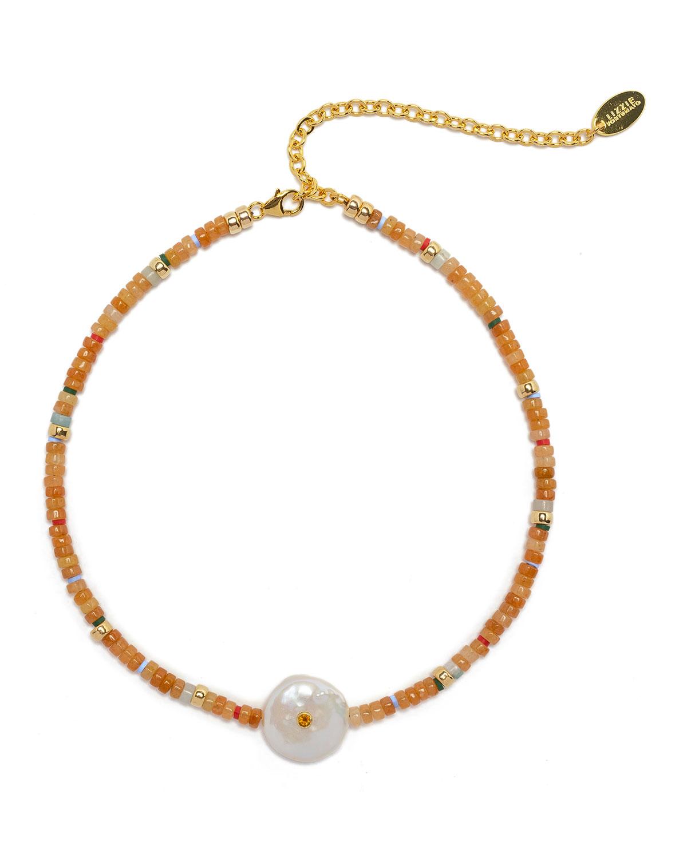 Destination Necklace in Peach