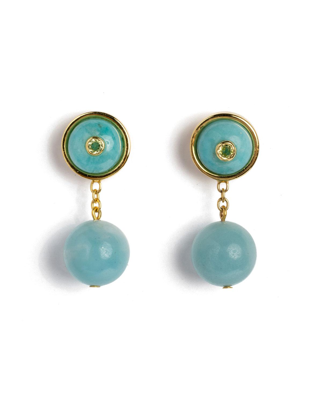 Yolo Earrings in True Blue