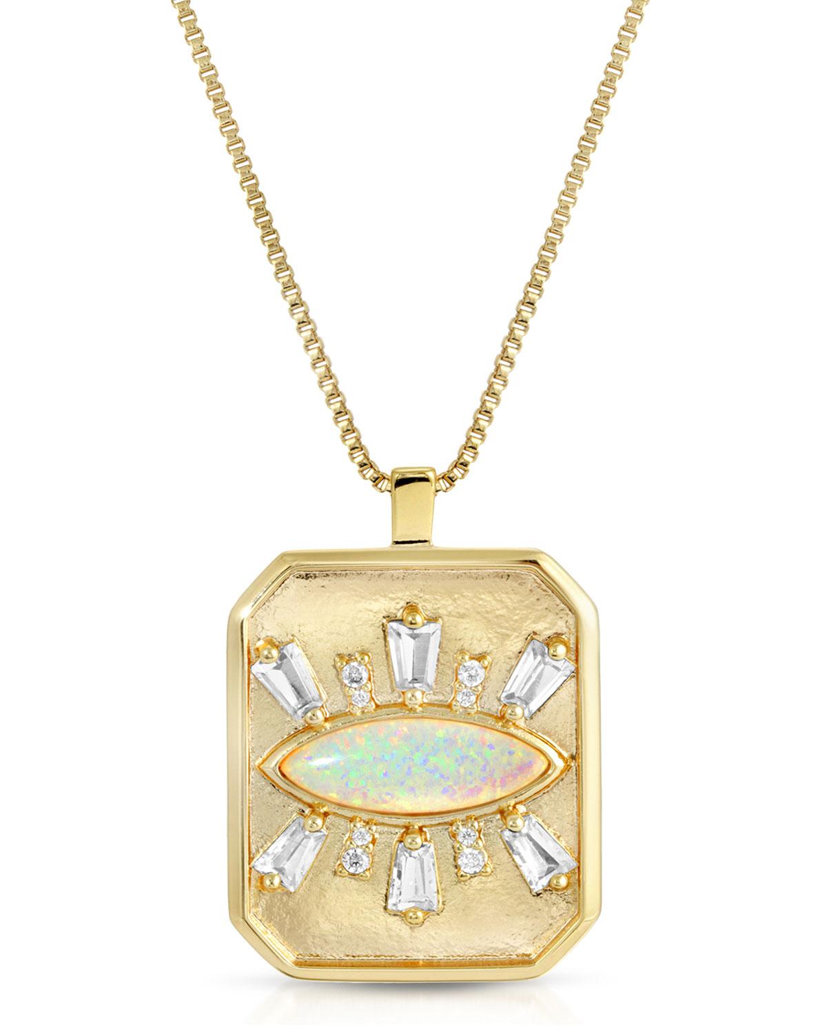 Athena Eye Pendant Necklace