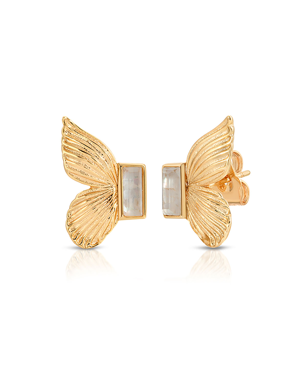 Butterfly Gem Stud Earrings