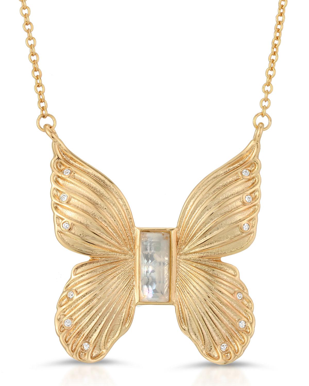 Butterfly Gem Necklace