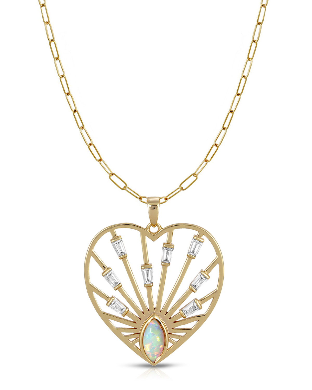14k Plated Love Always Heart Pendant with Chain