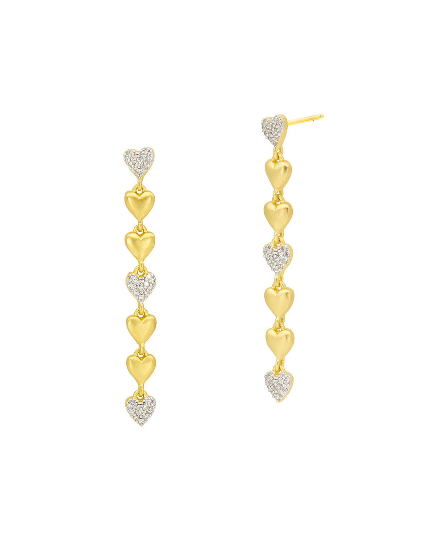 Linear Heart Earrings
