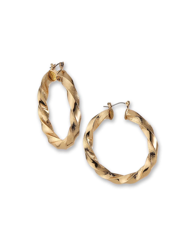 Twisted Post Hoop Earrings