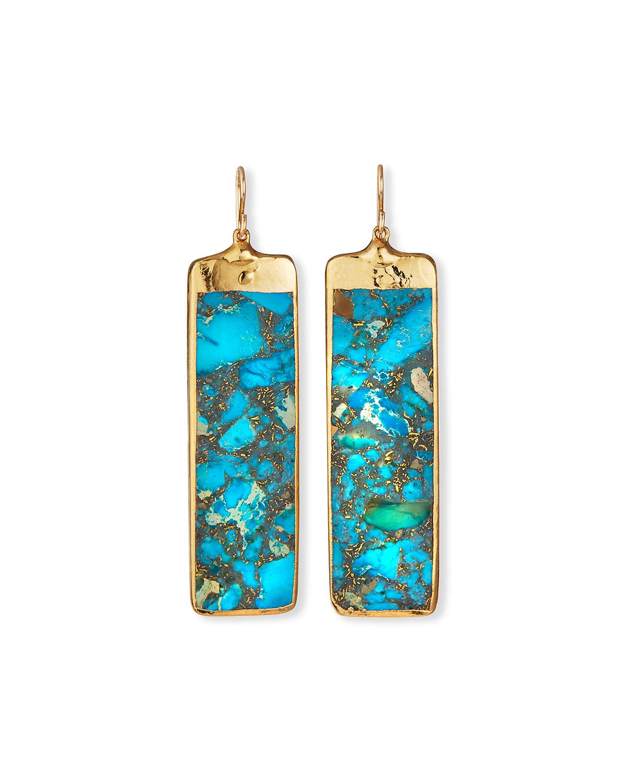 Imperial Jasper in Gold Foil Earrings