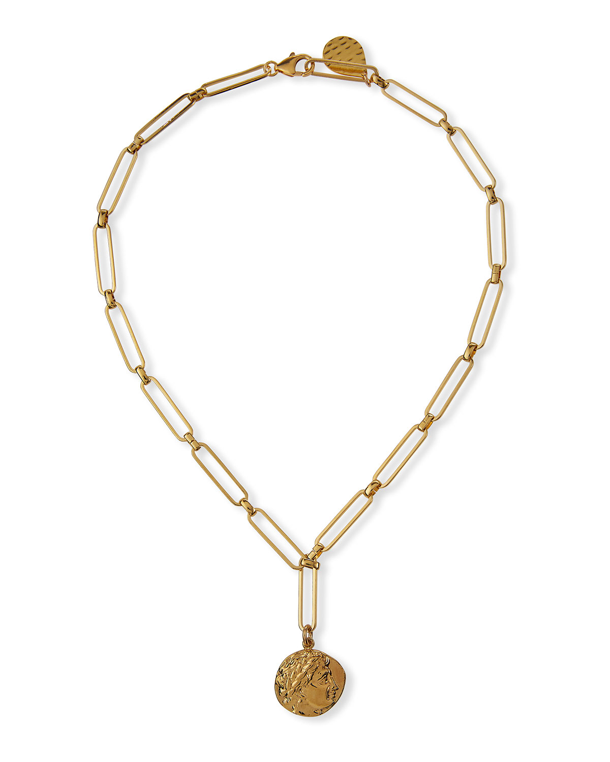24k Gold-Plate Coin Pendant Necklace