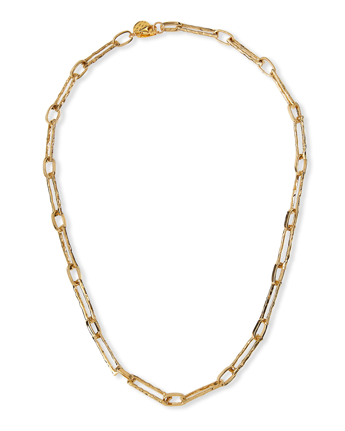 Textured 24k Gold-Plate Chain Necklace