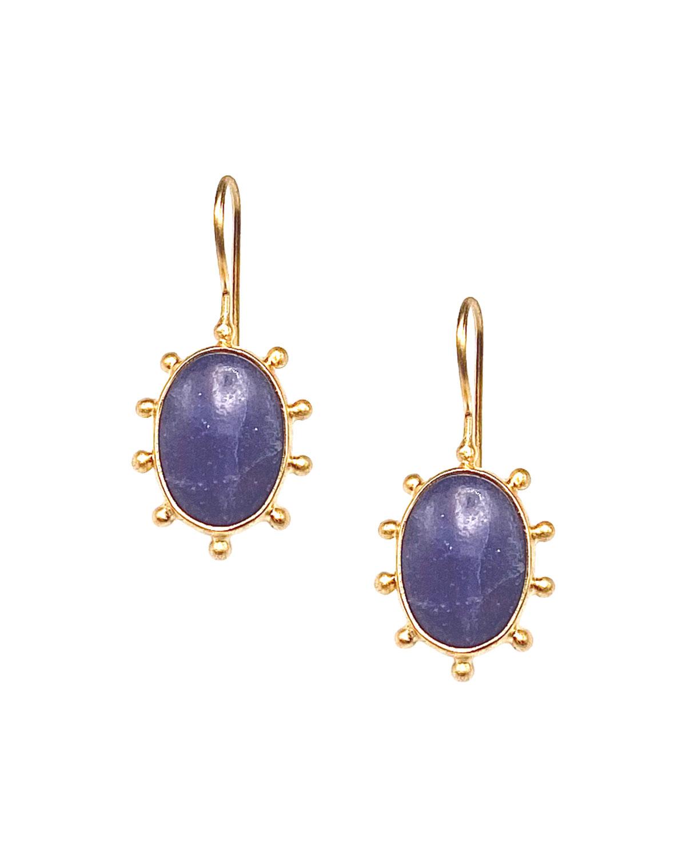 Purple Jade Pinwheel Earrings