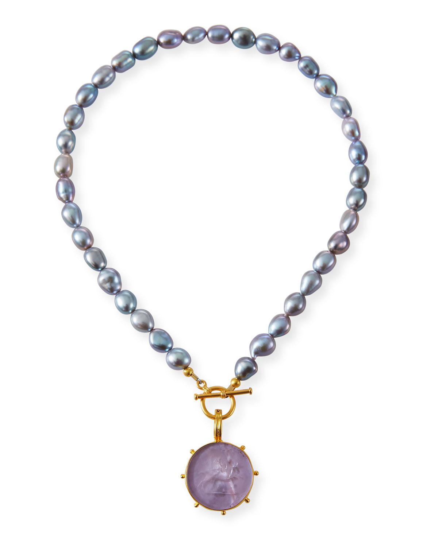 Pearl and Italian Pinwheel Necklace
