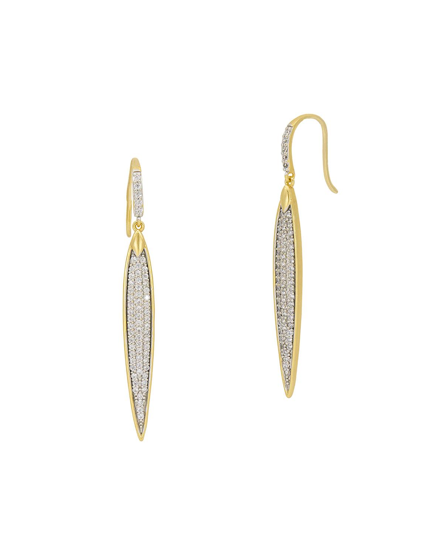 Freida Rothman Earrings PETALS AND PAVE LARGE EARRINGS