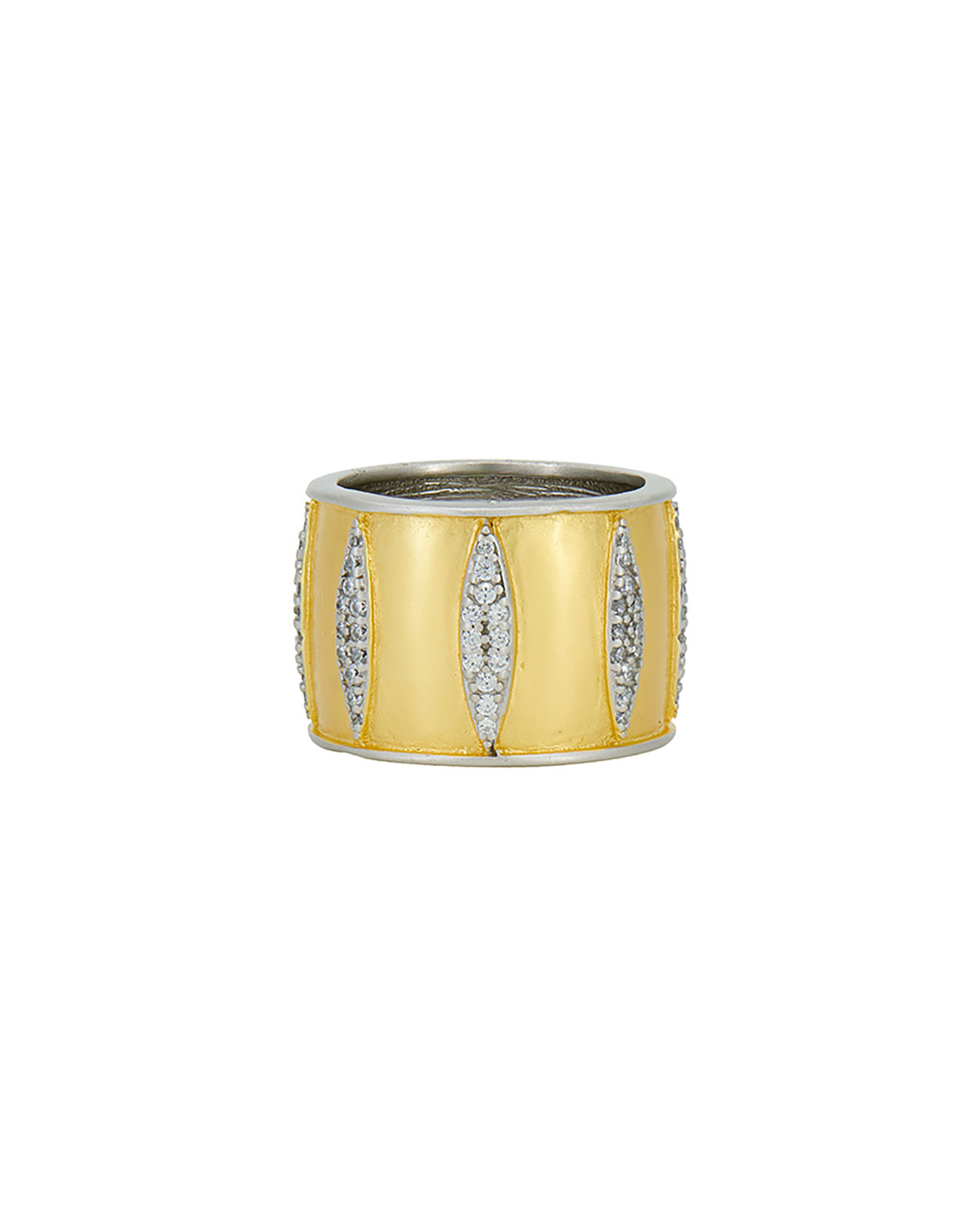 Wrapped in Petals Cigar Band Ring