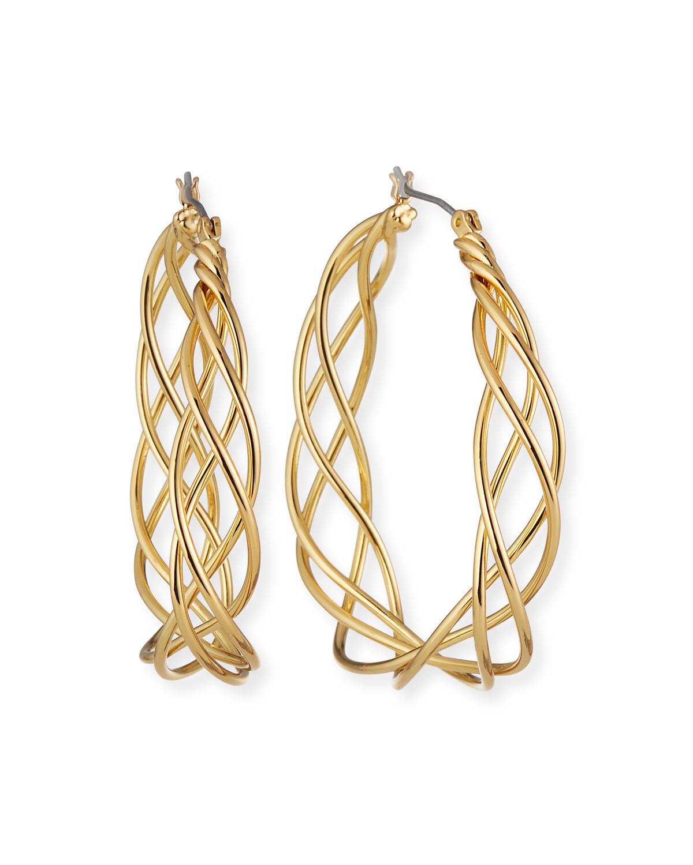 Triple Twist Hoop Earrings
