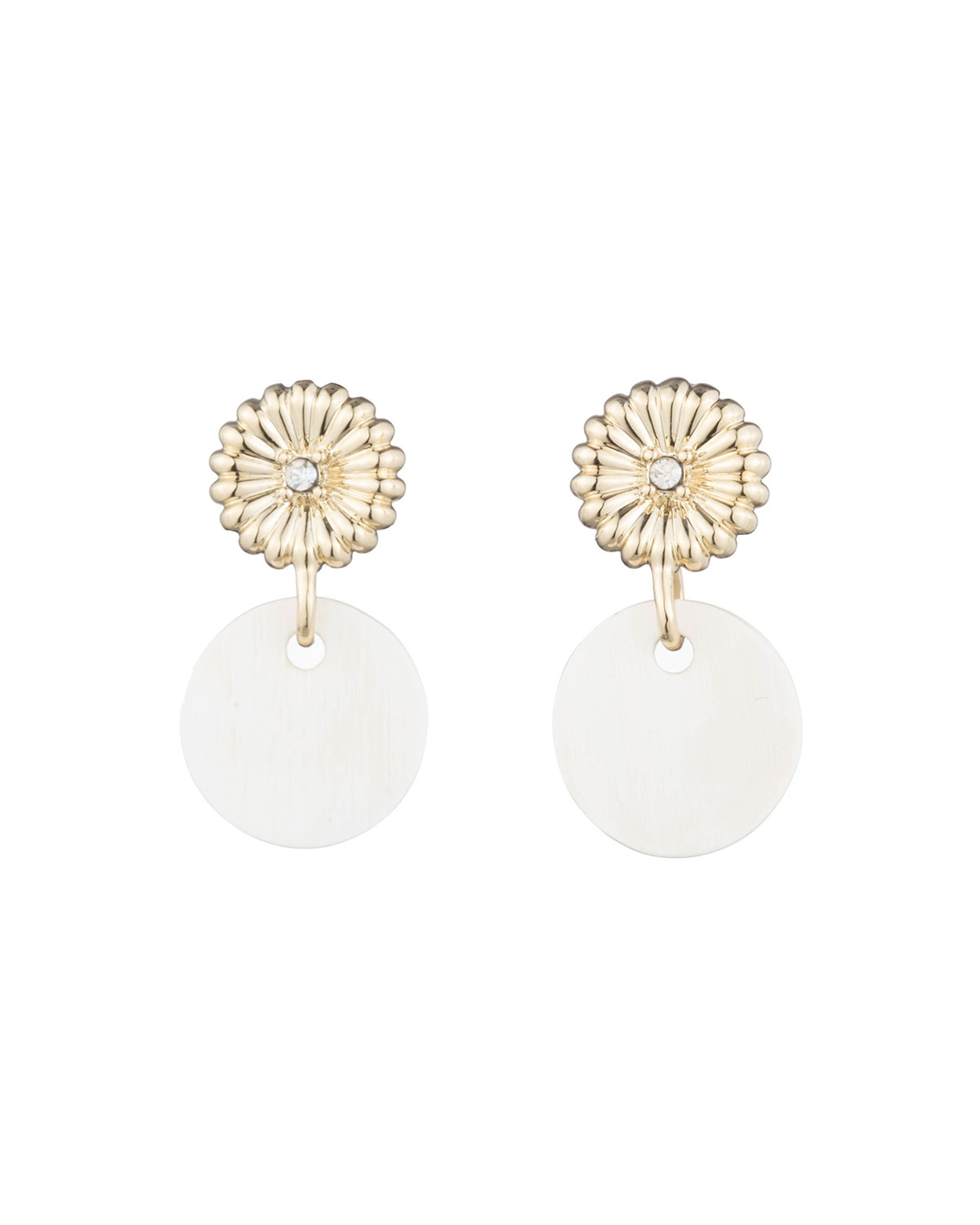 Rossi Small Drop Earring with Crystal Accent & Blonde Horn