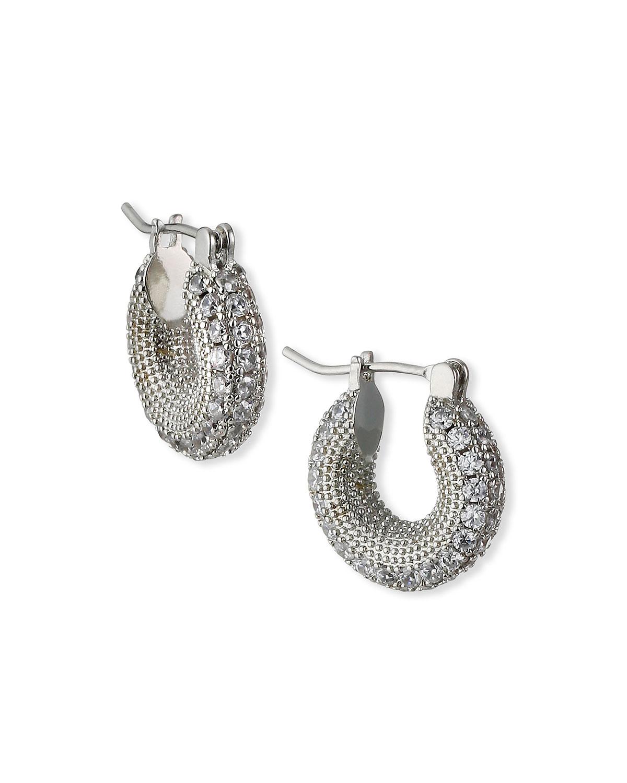 Pave 360 Huggie Earrings