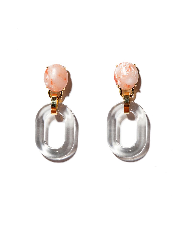 Club Link Acetate Drop Earrings