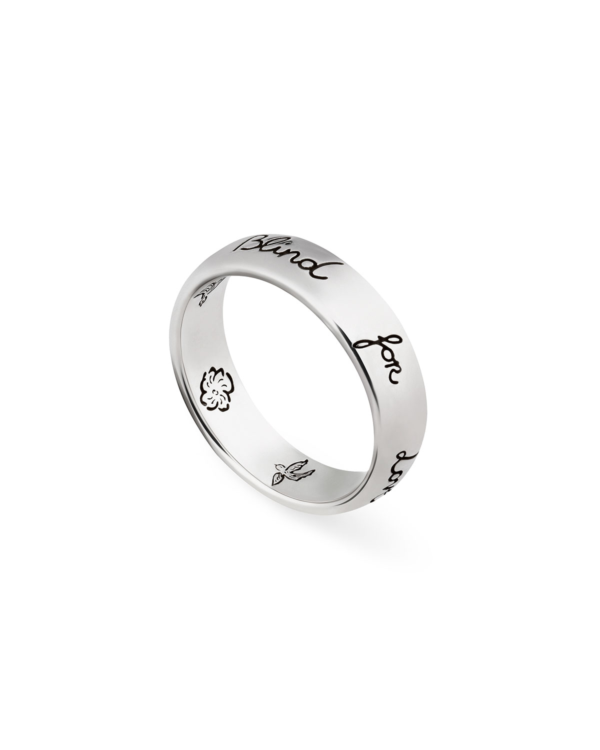 Blind for Love 5mm Sterling Silver Band Ring