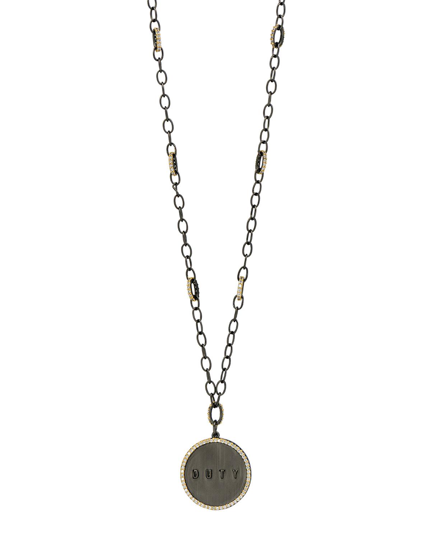 Duty Chain Link Pendant Necklace