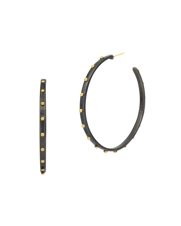 Granulated Hoop Earrings