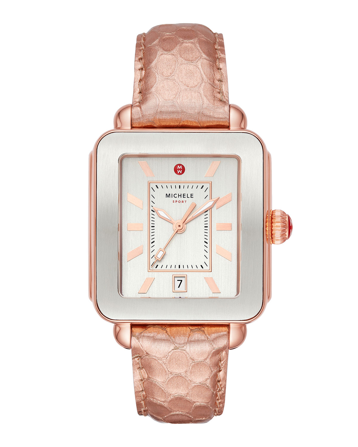 Deco Sport Two-Tone Watch w/ Embossed Strap