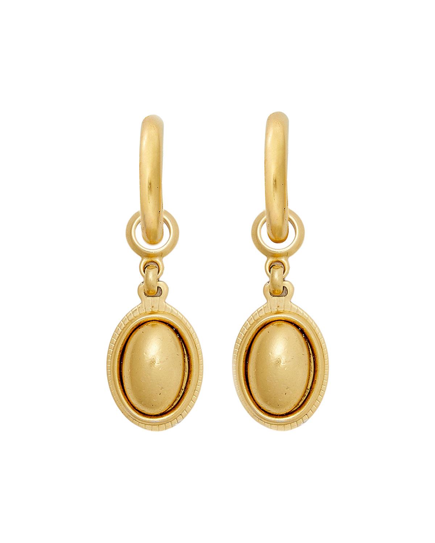Golden Ticket Hoop Earrings