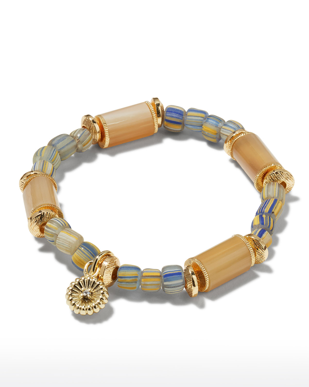 Peony Scalloped Charm Bracelet