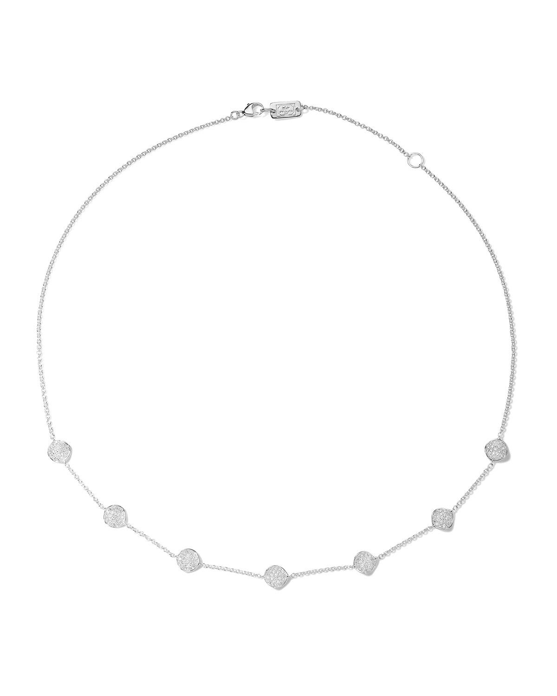 Ippolita STARDUST MINI FLOWER DISC NECKLACE WITH DIAMONDS