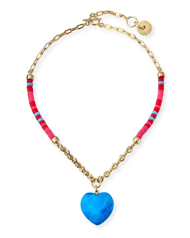 Raeni Turquoise Heart Necklace