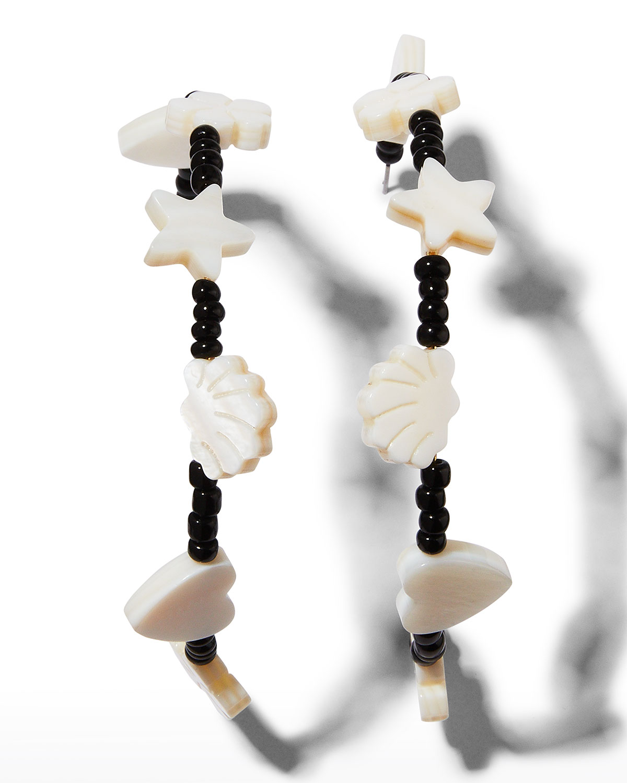 Colette Charm Hoop Earrings