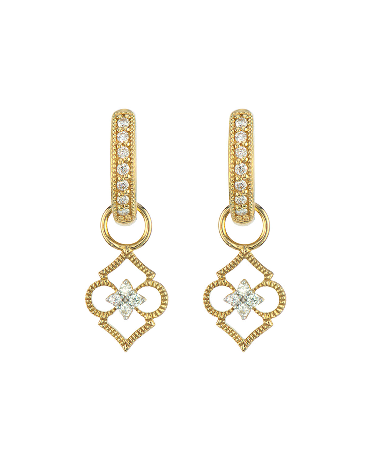 Moroccan Open Air Clover Earring Charms