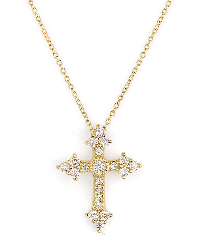 Provence Champagne Small Cross Pendant
