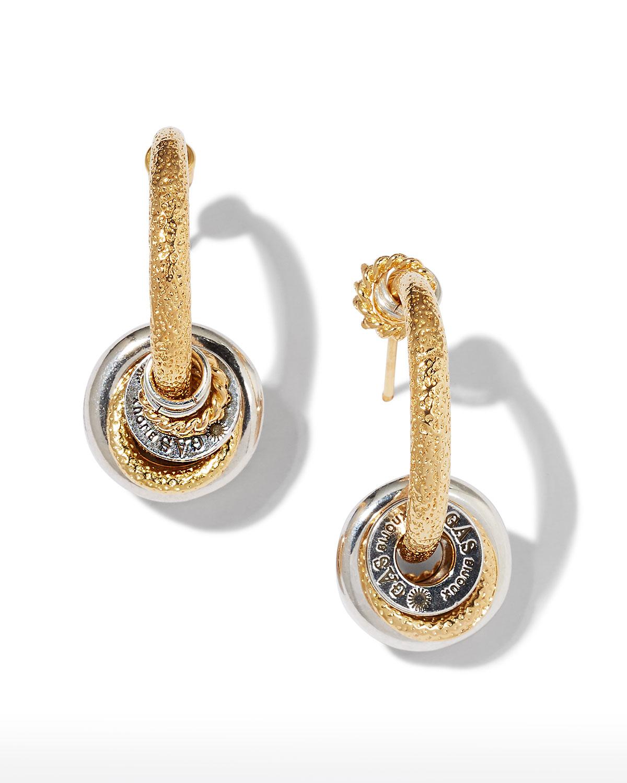 Creole Maranzana Earrings in Silver/Gold