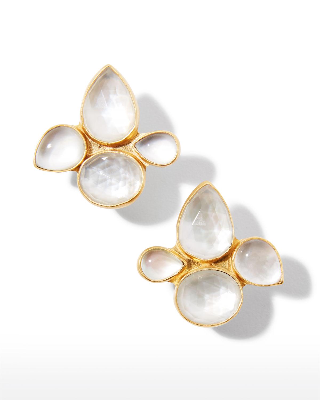 Mosaic Earrings in Tonal White