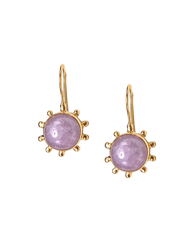 Kunzite Pale Pink Pinwheel Earrings