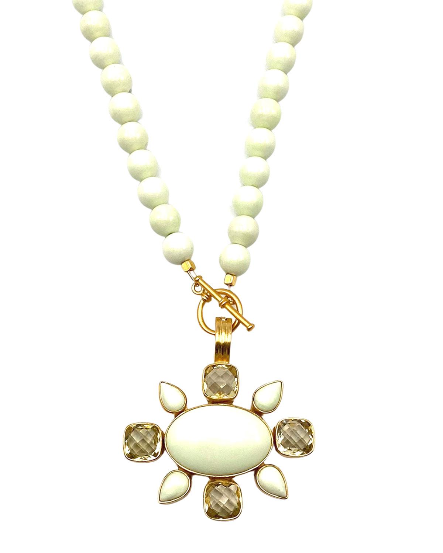 Lemon Chrysoprase Necklace