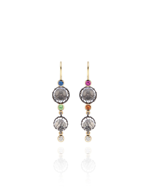 Sadie Cascade 3-Drop Earrings