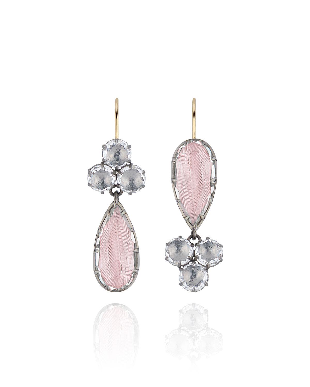 Caterina Cluster Pear Earrings