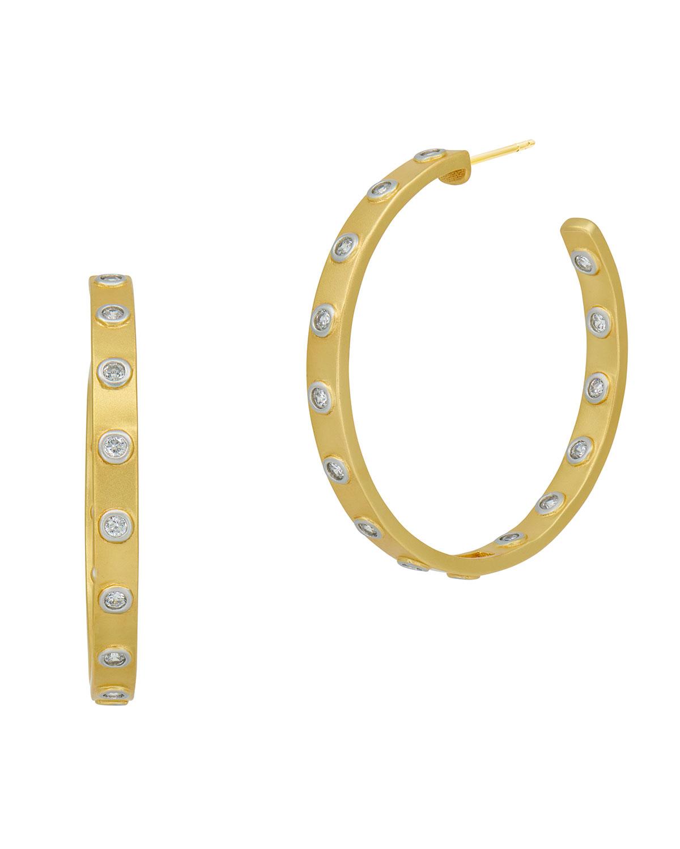 Glistening Stud Hoop Earrings
