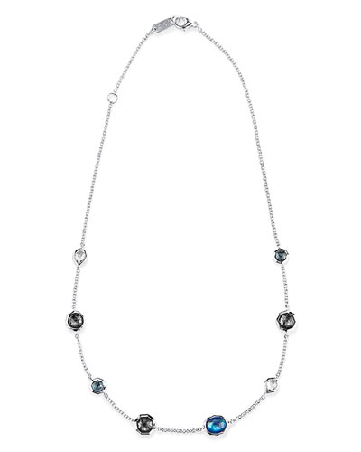 Wonderland Mini Gelato Short Station Necklace in Eclipse