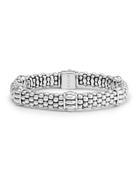 Lagos Caviar Rope-Station Bracelet