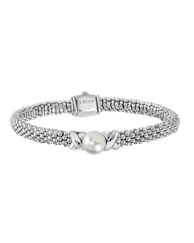 Luna 8mm Pearl & 6mm Caviar Rope Bracelet