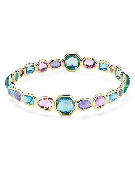 Ippolita 18k Gold Rock Candy Bangle Bracelet in Hologem
